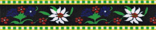 Country Brook Design 5/8 Inch Edelweiss Grosgrain Ribbon, 10 Yards by Country Brook Design