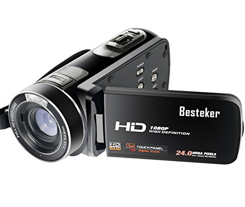Camera Camcorder, Besteker Portable Digital Video Camera HD 1080P 30FPS 24MP Support 64G SD Card Remote Control HDMI and USB Output Camera Recorder (HDV-Z8 plus)