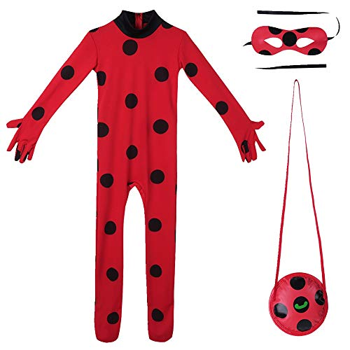 (Freebily Kids Girls Outfits Costume Girls Dress Cosplay Jumpsuit for Halloween Performance Red(Outfits))