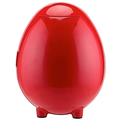 Generic 110V Mini Bottle Cooler Warmer Refrigerator for Office Dorm 12V Personal Fridge Cute Design Present,Red,4L