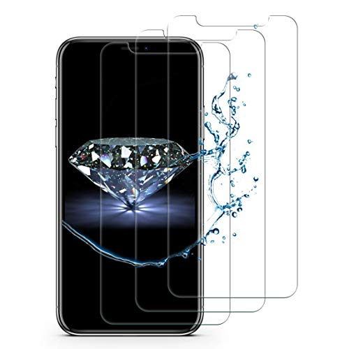 iPhone XS Max Screen Protector Tempered Glass Screen Protector [3 Pack] iPhone XS Max Screen Protector 6.5inch 3D Touch Easy to install Friendly Case Design iPhone XS Max Glass Screen Protector 2018