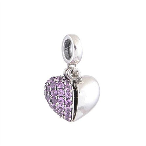Crystal Open Heart Charm - 6