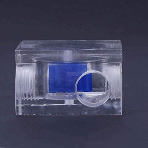 Water Cooling Flow Meter Acrylic Square Shape 3 Ways G1//4 Cooling water cooler Kit Blue-Ocean-11
