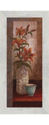 (Poster Palooza Framed Spiced Jewels I - Mini- 8x20 Inches - Art Print (White Barnwood Frame))