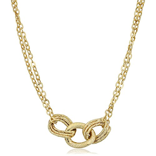 10k Yellow Gold Triple Link Double Strand Necklace (18 ()