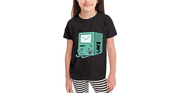 liu chunyans Adventure Time BMO 100/% Cotton Toddler Baby Boys Girls Kids Short Sleeve T Shirt