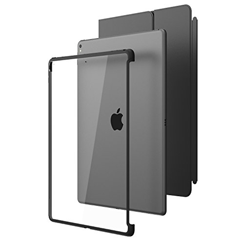 New iPad Pro 12.9 2017 Case, i-Blason [Compatible with Official Smart Cover and Smart Keyboard] Clear Hybrid Cover Case for Apple iPad Pro 12.9 2017 Release,Not fit iPad Pro 12.9 2018 (Clear/Black)