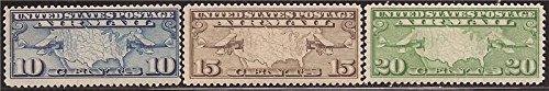 US Stamp - 1926-7 Mailplanes & US Map - Three Stamp Set MNH (Mnh Map)