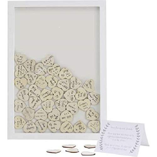 Wedding Guest Book Ideas Wedding Games Frame & 70 Write on Hearts ()