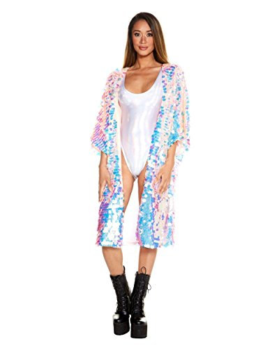 ty Monster Sequin Kimono Loose Cover Up (One Size) ()