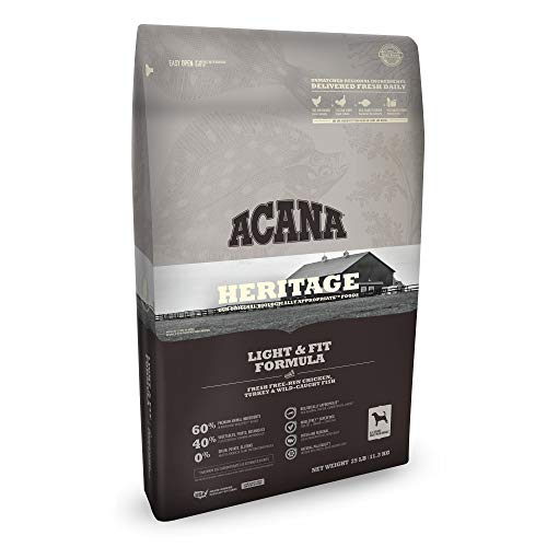 ACANA Heritage Dry Dog Food, Light & Fit, Biologically Appropriate & Grain Free