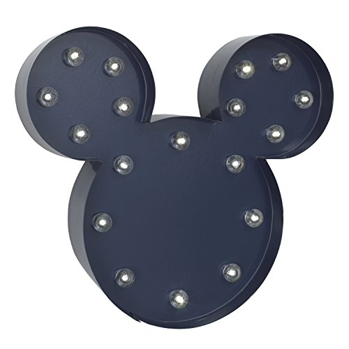 Disney Mickey Mouse Light Up Nursery Wall Decor with 2 Hour Timer, (Mickey Light)
