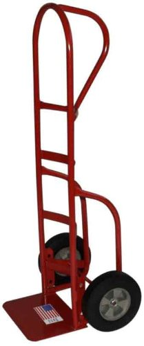 Milwaukee Hand Trucks 33006 Heavy Duty Flow Back Handle Truck with Stair Climbers and 10-Inch Puncture Proof Tires with Steel Hub
