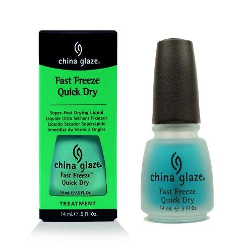 China Glaze Liquid Nail Polish ((3 Pack) CHINA GLAZE Fast Freeze Quick Dry - CGT911)