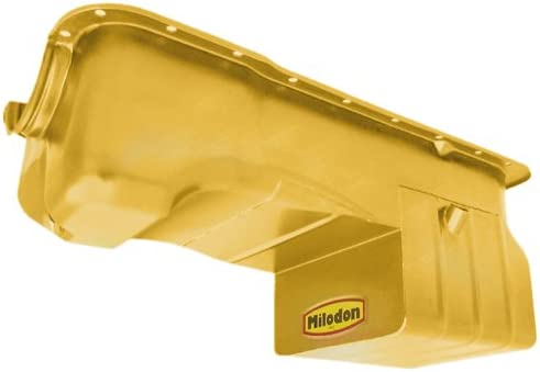 Milodon 31126 Steel Gold Zinc Plated Street and Strip Oil Pan for Ford 351W