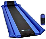 IFORREST Sleeping Pad with Armrest & Pillow - Ultra Comfortable Self-Inflating Foam Air