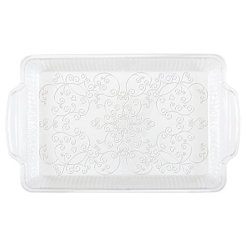 Clear Etched Plastic Serving Tray