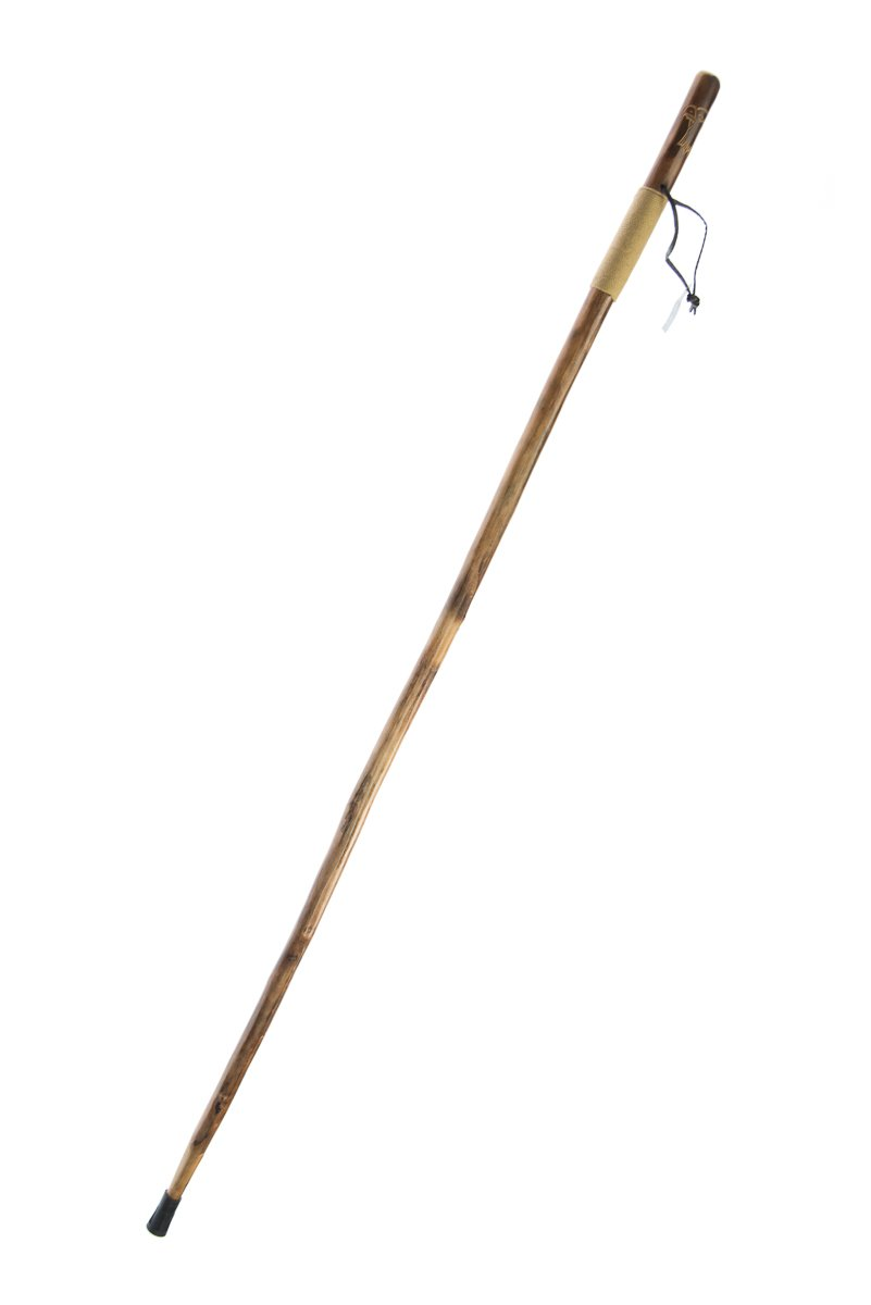 SE WS626-55RE Survivor Series Rope Wrapped Wooden Walking Hiking Stick with Hand-Carved Eagle Design, 55