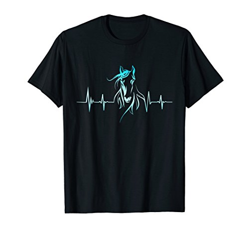 Horse Heartbeat T-Shirt - Horse Lovers - T-shirt Horse Lovers