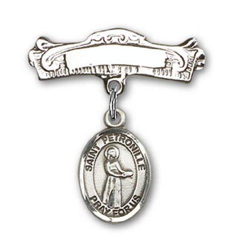 Icecarats Créatrice De Bijoux En Argent Sterling St. Charme Petronille Broches Badge Arc 7/8 X 7/8
