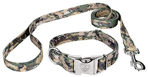 Country Brook Design | Mountain Viper Camo Premium Dog Collar & Leash - Large