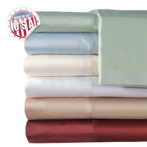Veratex Home Hotel Bedroom Decorative Accessories 500Tc Solid Bedding Sheet Set Queen Ivory