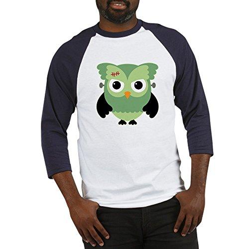 Truly Teague Baseball Jersey Spooky Little Owl Frankenstein Monster - Blue/White, 2X]()