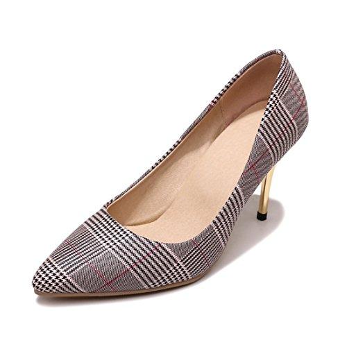 RFF-Zapatos de primavera, verano y otoño Zapatos de Tacón/Europe, The United States During The Spring and Autumn High Heels Tip Big Code Women Shoes Red
