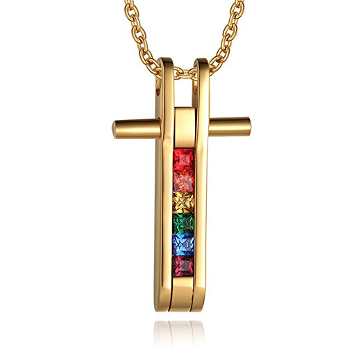 Cheo Rish Popular Rainbow Pendants,Gay Pride Necklaces (Adult African King Costume)