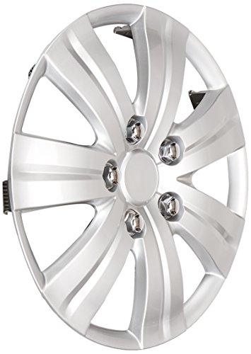 Pilot WH523-14S-BX Universal Fit Honda Civic Style Matte Silver 7-Spoke 14 Inch Wheel Covers - Set of 4