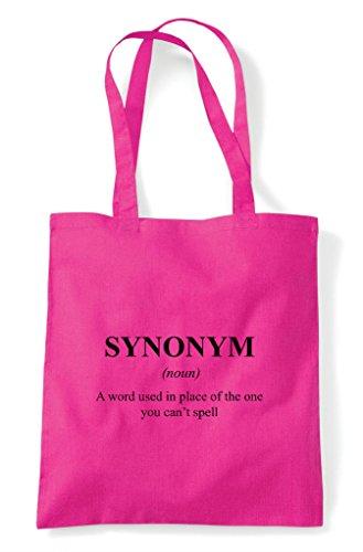Definition Alternative Shopper Synonym Bag The Funny In Fuschia Not Dictionary Tote wRdAdq