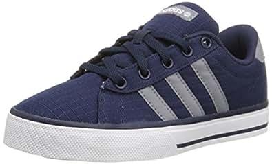 adidas NEO SE Daily Vulc K Kids Casual Footwear (Little Kid/Big Kid),Collegiate Navy/Grey/White,1 M US Little Kid