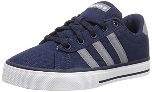 Adidas Neo SE Daily Vulc K Kids Casual Footwear (Little Kid/Big Kid),Collegiate Navy/Grey/White,4.5 M US Big Kid (Navy Leather Footwear Youth)
