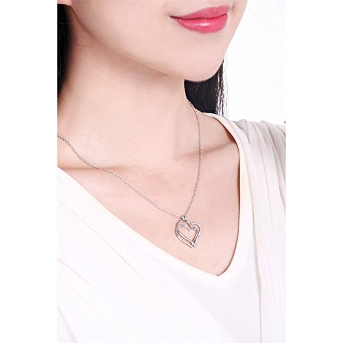 Engraved Pendant Necklace Love Heart Sterling Silver Quote You are my other half Women 18 Chain