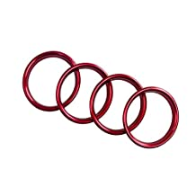 2012-2015 For Audi A3 8V Front Dashboard Console Air Outlet Vent Cover Ring Red 4pcs