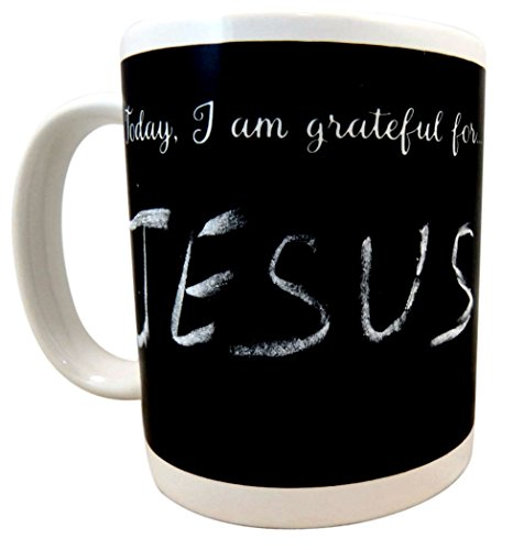 Give Thanks in Everything Gratitude Chalkboard Mug with ...