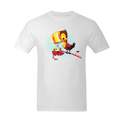 Fashion-In Men's Bird Also Wants Some Candy Painting Design T-Shirt - Hot Topic T Shirt US Size XS]()
