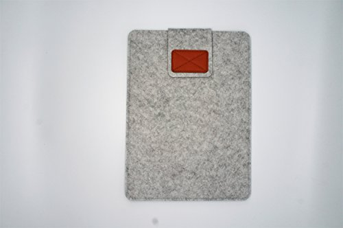 Felt Envelopes - Laptop Sleeve 13 Inch Felt Envelope Cover Ultrabook Carrying Case, Computer Sleeve with Mouse Pouch, for Apple 13 Inch MacBook Air / 13 Inch MacBook Pro, Grey Laptop Bag (浅灰色2)