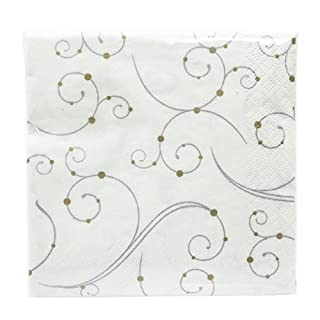 "Hanna K. Signature Collection 75 Count""Swirls & Pearls"" Paper Beverage Napkin (B00NL7I2RW) | Amazon Products"