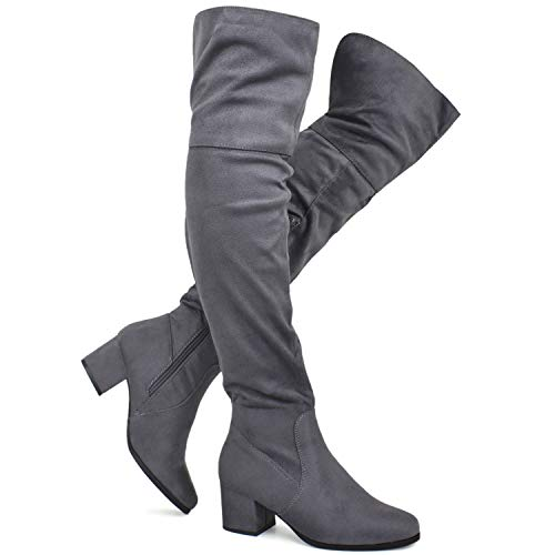 Grey Boots For Women - 8