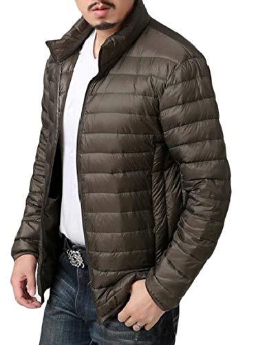 TTYLLMAO Men's Ultra-Lightweight Packable Outwear Down Jacket Coats Army Green