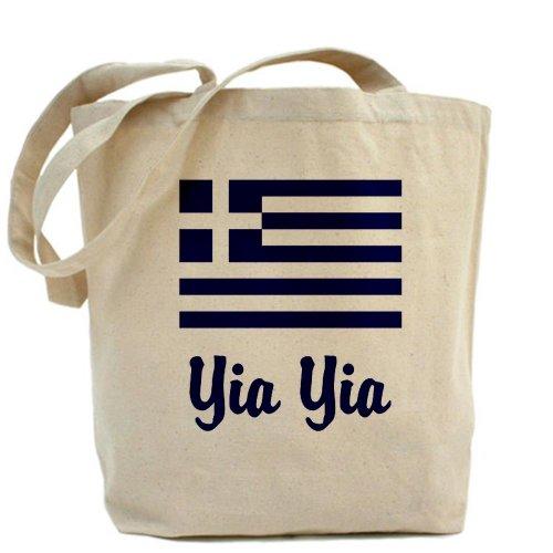 CafePress tasche–Yia Yia con bandiera greca tasche