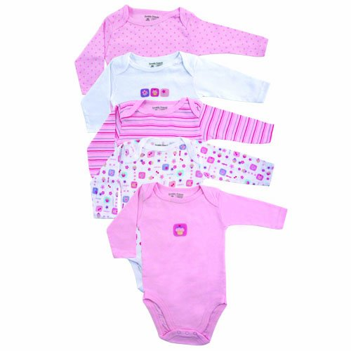 5-Pack French Poodle Luvable Friends Girl Bodysuits