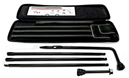 IPCW TJ101 Black Spare Tire Changing Tool Kit with Bag for GM - 6 Piece