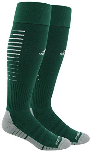 adidas Team Speed II Soccer Socks, (1-Pack), collegiate green/white/light Onix, 13C-4Y