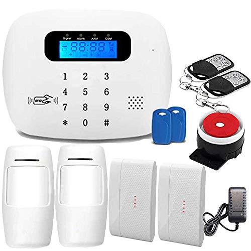 Alarma Antirrobo Inalámbrica Sistema Alarma De Seguridad Gsm Y Wifi, Seguridad Contra Robo Rfid Hogar Negocio, Soporte...
