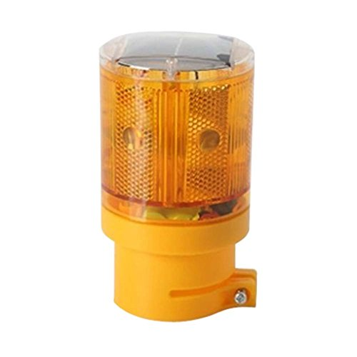 LEDHOLYT 0.3w Solar Powered Emergency Strobe Warning Light Wireless Flashing Barricade Safety Road Construction Traffic Flicker Beacon Lamp Yellow Color