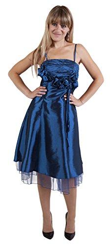 Angel-fashions - Robe - Cocktail - Sans Manche - Femme Bleu Bleu