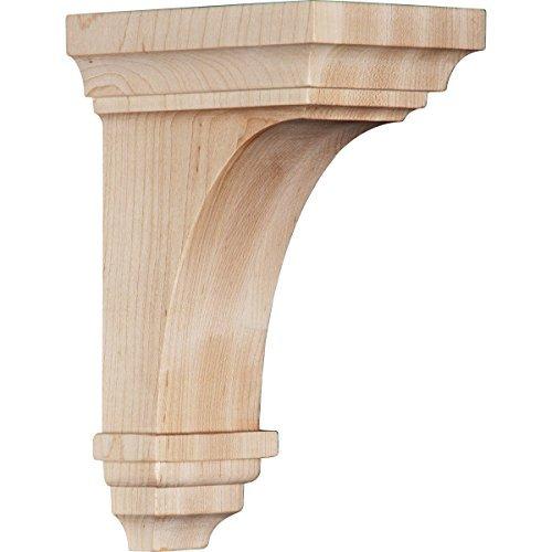 Ekena Millwork CORW04X04X08JEMA 4W x 4 3/4D x 8H Small Jefferson Wood Corbel, Maple by Ekena Millwork by Ekena Millwork