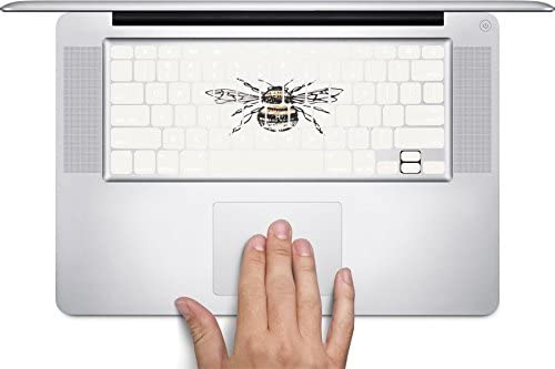 Awesome Bumblebee Print Art Keyboard Decals by MWCustoms for 12 inch MacBook